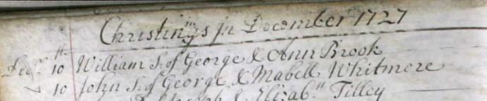 1727 John Whitmore Baptism