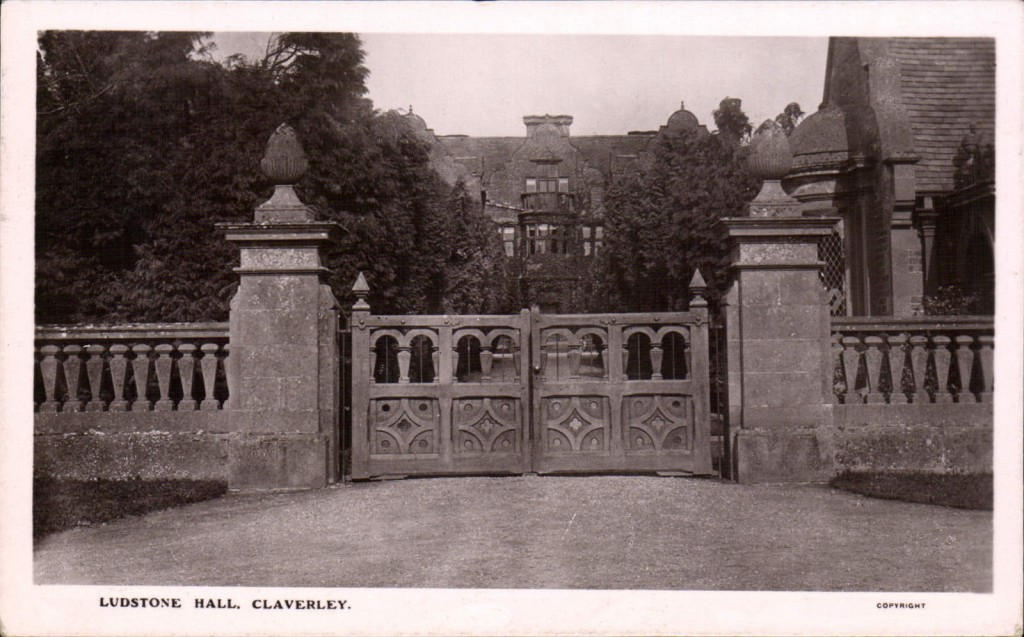 Ludstone Hall 1913 postcard