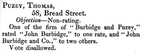1843 burbidge bread street (puzey name)